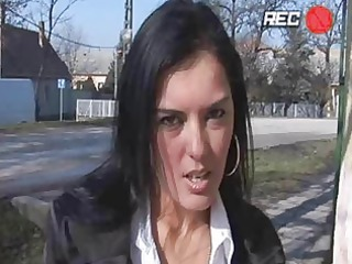heavy chested brunette momma acquires pierced in