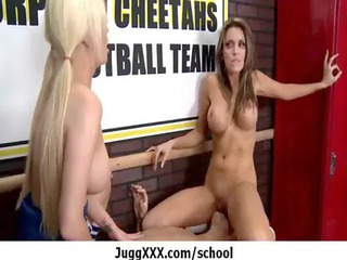 lady instructor drilling enjoy a pro - huge tits