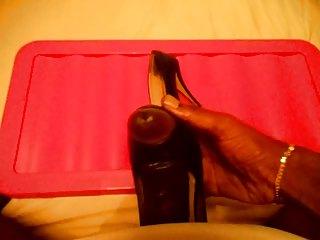wife ebony galoshes heels schuhe shoejob