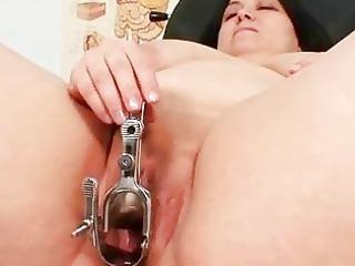 giant boobs fat lady rosana gyno medic examination