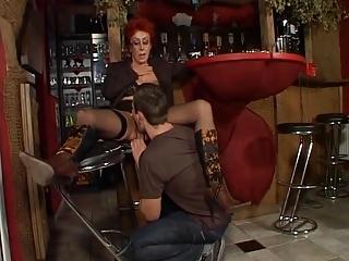 super german red-haired elderly