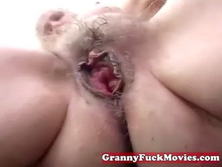 naughty elderly device piercing her granny