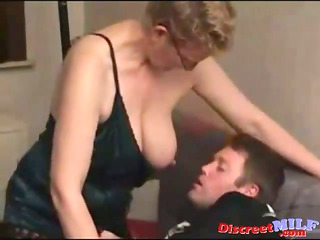 young cougar lady banged by amateur heavy man