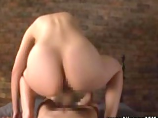 asian mature chick rides uneasy cock