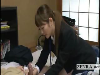 japan lady sextoy saleswoman gives granny client