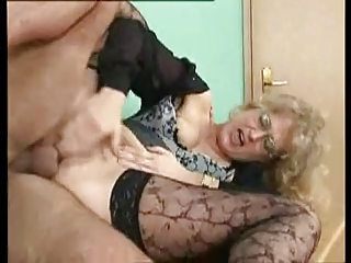 sweet german milf acquires anally gang-banged