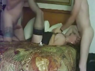 maiden has a triple with her fucker and lover