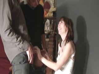 cougar inside stockings analfucked by 2 bastards