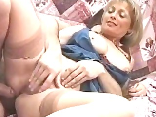 european lady politely takes her cave rammed
