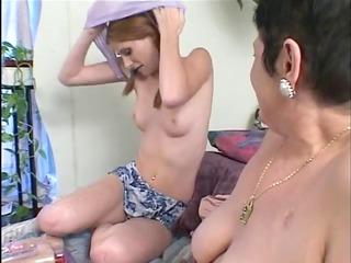 filthy homosexual slut granny with teen angel