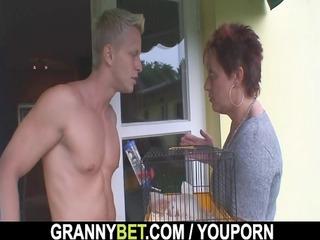 hot guy screws neighbour elderly