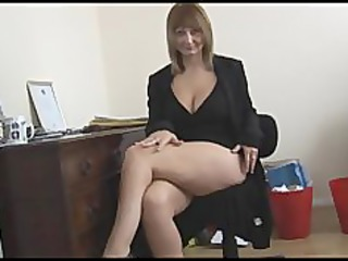 naughty grown-up blonde associate goes naked and