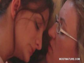 grown-up homosexual ladies giving cunnilingus