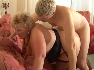 bleached shorthair big awesome womangranny by