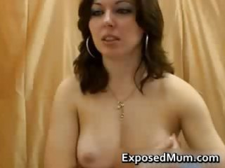 mature lady caught recording live cam solo part3