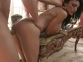 lusty girl angel shags with two rich men