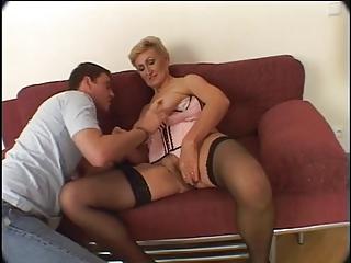 mature lady acquires creampied