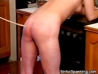 very impressive cougar chick spanked