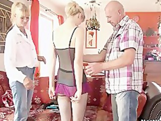 perverted parents seduces their sons gf
