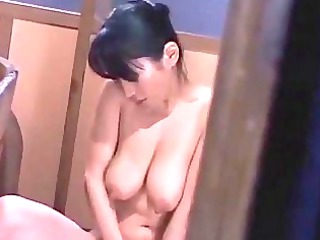 naughty lady with bushy slit fisting herself in