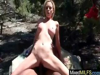 adorable busty grown-up babe will huge dark cock