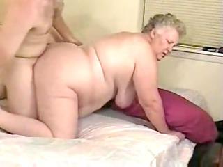 plump grey haired elderly gang-bangs in bedstead
