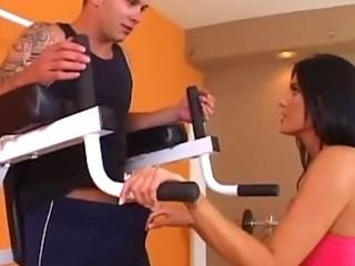 charming woman workout