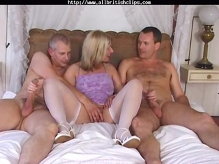 english chick josephine james into a mmf three