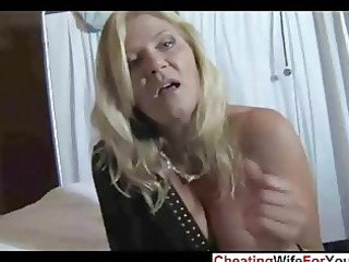 enormously impressive woman gives awesome handjob