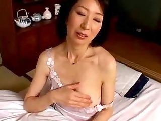 lady pushing vibrator with dildo having orgasm on