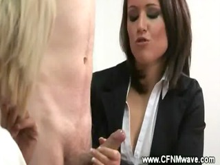 cfnm workplace jerkoff session with so impressive