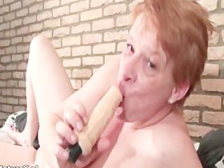 slutty older girl tasting big dildo part5