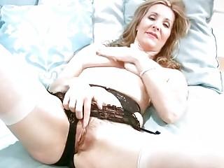 desperate mature inside g-string fist masturbation