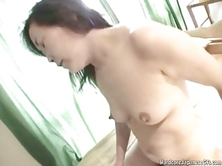 super japanese milf obtains pounded uneasy and