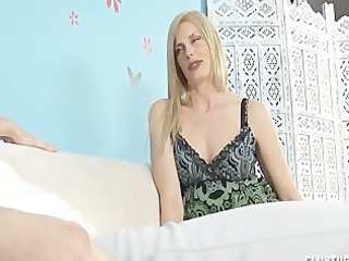 slutty girl jerks off her stepson