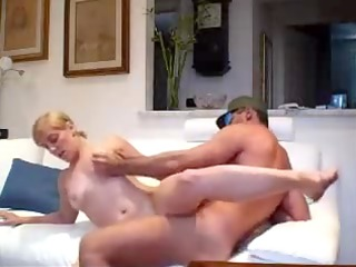 fucking blond girl for facial video
