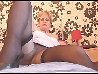 slutty cougar angel in nylons pantyhose and