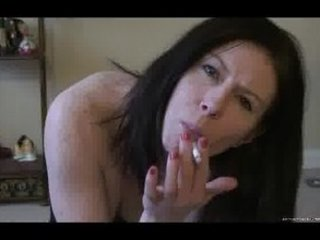 a awesome housewife smokes and enjoys for you
