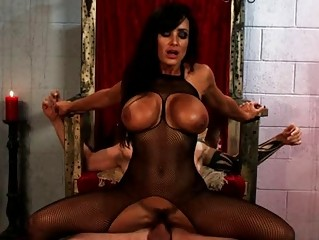 gothic slutty woman gang-bangs tattooed man