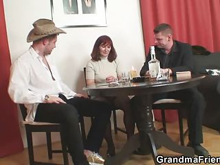 granny plays get nude poker and takes banged by