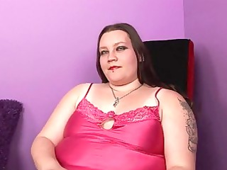 blond fat momma with tattooes and piercings
