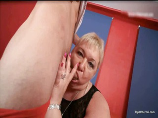 fat blond lady dr lucia blows stiff
