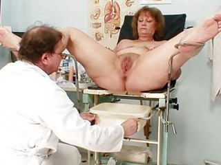 shaggy plump woman takes harrassed by gynecologist