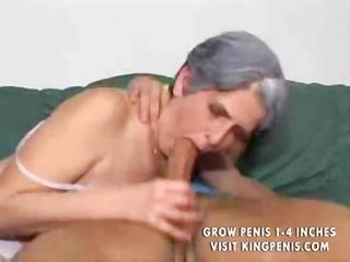 grey haired elderly gang-banged till her mascara