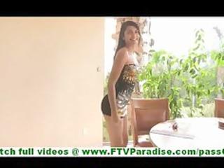 bonaja gorgeous latina babe flashing underwear