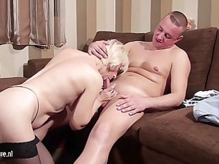grownup whore woman tasting and fucking her ass