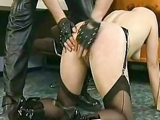 mature babe slave with giant metal clamps with
