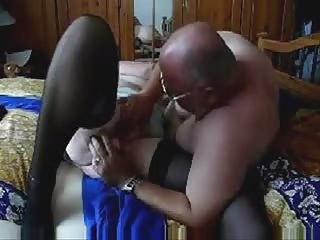 pushing dildo a chubby granny