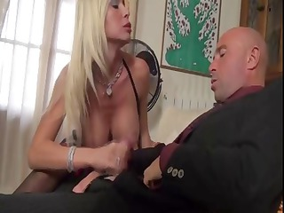blond british girl with giant plump melons