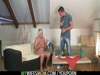 horny granny seduces her son into law
